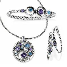 Brighton Halo Bangle, Necklace & Earrings