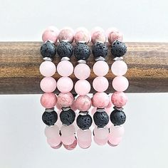 All Silver Bracelets Gemstone Bracelets, Handmade Bracelets, Silver Bracelets, Yoga Armband, Do It Yourself Jewelry, Little Presents, Diffuser Jewelry, Pink Gemstones, Crazy Lace Agate