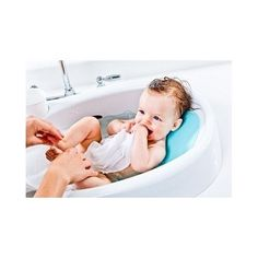 4MOMS INFANT TUB - White Baby Bath Safety Bathtub Digital Temperature