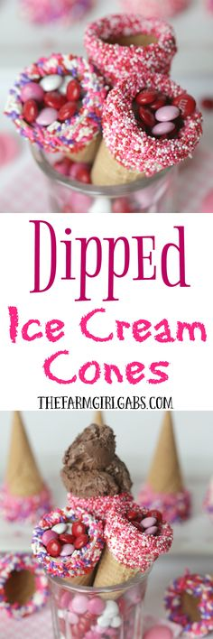 I scream! You scream! We all scream for an ice cream cone made with these fun Dipped Ice Cream Cones! Scoop up some fun with the holiday-themed treats!