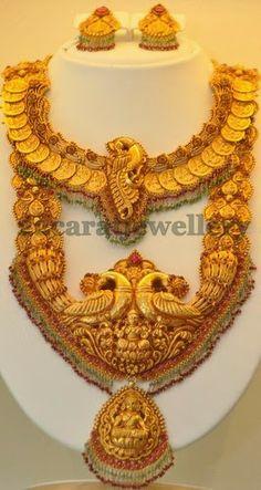 Jewellery Designs: 22 Carat Gold Temple Jewellery