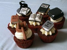 Lawyer fondant toppers.  Need to make for Aaron's graduation party if he let's us have one!