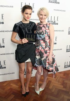 Actress of the Year: Emma Watson, with presenter and ELLE Editor-in-Chief Lorraine Candy