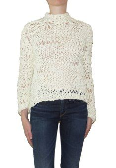 Pima Doll Hand Knit Crew  All Womenswear HELPSY