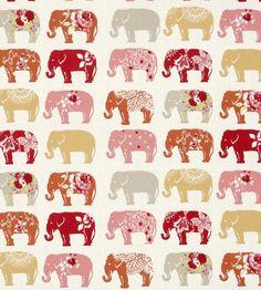 Elephants Fabric by Clarke & Clarke | Jane Clayton