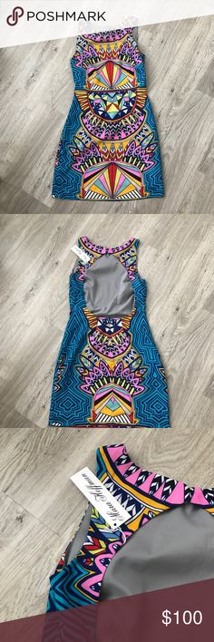 *NWT* Mara Hoffman Dress NWT - printed Mara Hoffman dress. Open back, with button top around the neck. The pictures of me wearing it are in another color pattern then this one that I also have. Mara Hoffman Dresses Mini