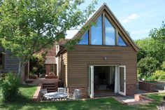A two storey garden room extension to a Grade II Listed farm house. Garden Room Extensions, House Extensions, Velfac Windows, May House, Larch Cladding, Planning Permission, Room To Grow, Build Your Dream Home, Open Plan