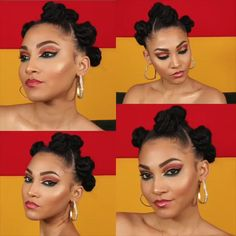 videos afro Bantu Knots with style – Diy Hairstyles 3c Natural Hair, Protective Hairstyles For Natural Hair, Natural Hair Styles, Bantu Knot Styles, Bantu Knots, Bantu Knot Hairstyles, Diy Hairstyles, Easy Black Hairstyles, Hair Ponytail Styles