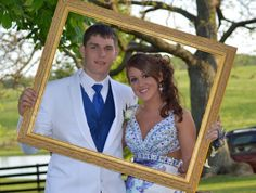 Senior Prom - Cute idea, use a picture frame and hold it sideways! Prevents it from being off center!