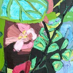 Detail of Kate Mullin Williford's floral oil painting. www.katemullinart.com