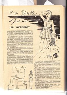 PAR AMOUR DES POUPEES :: Yvette ,poupée du magazine Fillette 1939 et sa garde-robe