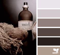 color study, by design seeds Colour Pallette, Colour Schemes, Color Combos, Design Seeds, Room Colors, House Colors, Paint Colors, Study Design, Color Studies