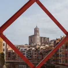 La Catedral de Girona des del pont Eiffel #girona #catedral #ponteiffel
