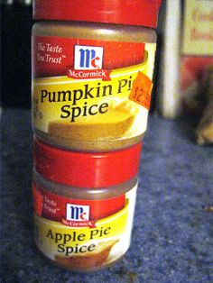 Make Your Own  Pumpkin or Apple Pie Spice. So much cheaper!!!!!
