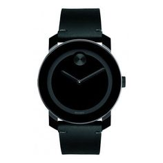 Movado Bold featuring polyvore, women's fashion, jewelry, watches, black, movado jewelry, movado, dot jewelry, leather-strap watches and swiss quartz watches #leatherjewelry #womensfashionwatch