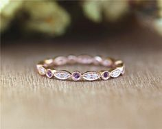 Style Round Full Amethyst And Diamonds in 14K Solid Rose