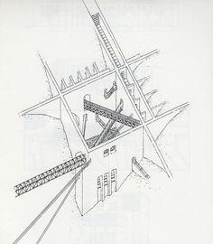 Leon Krier. Diffucult Access to O.M.U, 1975