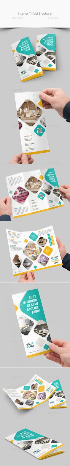 Interior Trifold Brochure Template PSD