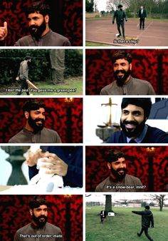 Paul Chowdhry on taskmaster Uk Comedians, English Comedians, British Humor, British Comedy, Paul Chowdhry, 8 Out Of 10 Cats, Greg Davies, Comedy Movies, Films