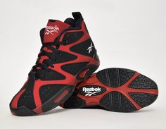 #Reebok Kamikaze I Black/Red #sneakers