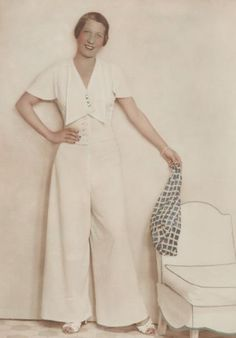 1935 elegant wide pants