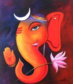 Resultado de imagen para ganesha paintings acrylic