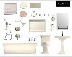 Transitional Twist on the Pale Neutral Bathroom/ Kohler Supplied at PDI. www.relyonpdi.com