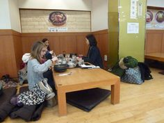 Dining on the floor in Insadong