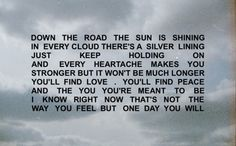 Keep holding on and you ll see the sun lyrics