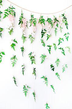 DIY Garden Floral Bridal Shower Backdrop - Beacon Lane