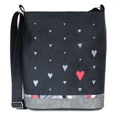 942+-+srdcovka+Originální+ručně+malovaná+taška+speciálnímivoděodolnými+barvami,které+jsou+stálobarevné,odolné+vůči+oděru,pružné+a+omyvatelné.+Barevný+podklad:šedá+grafitová.+Uvnitř+taškyje+jedna+dělená+kapsa.+Délka+ramínka+je+nastavitelná+(max.délka+130+cm).+Rozměry:+výška34+cm,+šířka+32,5+cm+(+dno+28x8+cm).+Každá+taška+je+vystavena+pouze+v+jediném... Messenger Bag, Satchel, Coin Purses, Crossbody Bag, Backpacking, School Tote