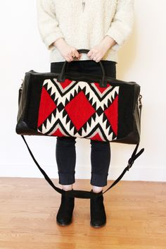 Jagged Diamonds Duffel Bag