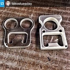 Instagram photo by farnfew - #Repost from @takostuesday --- Finally got my aluminum single knuck and my stainless double knuck from @thebottlebruiser  I have night classes and it gets scary walking to my car in pitch black.. Safe to say these have made me feel more confident about making it home safe.