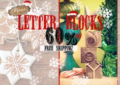 Letter Block – Dec 10 – 60% off + free shipping – starting at $7.99 –  Code: blocks60