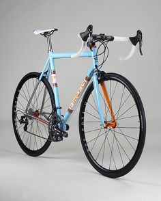 Really want to try one of these out! #MadeInBoston Titanium-Road-Baby-Blue-2  TITANIUM ROADBIKE (strong as steel)