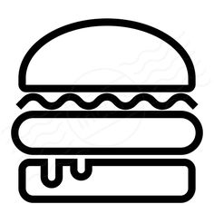 burger symbol - Google Search