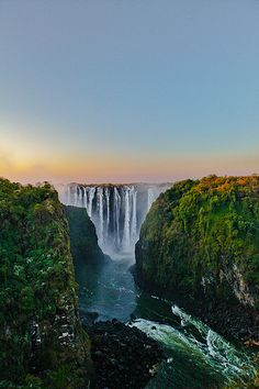 "Victoria Falls: ""A World Heritage Site and one of the 'Seven Natural Wonders of… Places Around The World, Oh The Places You'll Go, Places To Travel, Places To Visit, Around The Worlds, Travel Destinations, Beautiful Waterfalls, Beautiful Landscapes, Chutes Victoria"