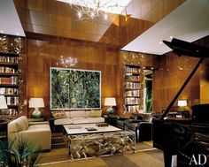 Modern Office/Library by Peter Marino Architect and I.M. Pei in New York, New York