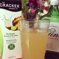 @crackerdrinksco pineapple coconut and lime from this months @degustabox_uk I's perfect with gin makes an easy summer cocktail! #degustabox #gin #ginporn #juice
