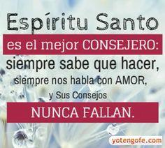 El Espiritu Santo es el Mejor Consejero, nunca nos falla