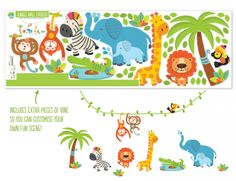 Buy Jungle Wall Stickers perfect for kids bedrooms online