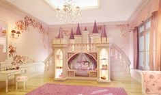 Fairytale Princess Castle Bed Girl's Bedroom