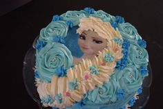 Gateau visage reine neiges (12)