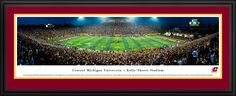 Central Michigan University Chippewas Football Panoramic Picture - Kelly/Shorts Stadium - Deluxe Frame $199.95