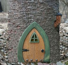 Faerie Doors, Fairy Doors, Gnome doors, Elf Doors, Hobbit Doors 9 inc | NothinButWood - Dolls & Miniatures on ArtFire