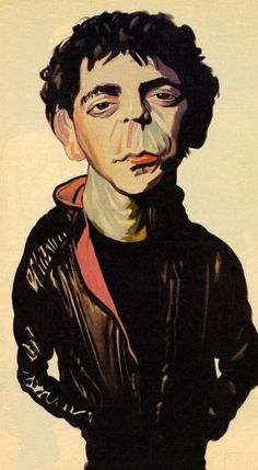Lou Reed by Philip Burke.