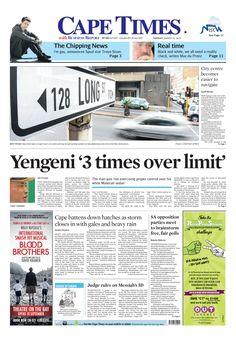 News making headlines: Yengeni 3 times over limit
