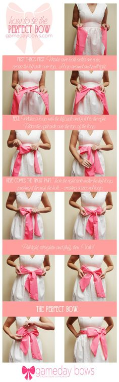 How to Tie the Perfect Bow -- finally I will be able to tie my girls bows on their dresses
