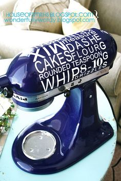 Tired of boring Kitchen appliances -- Knock Off this idea and print out your vinyl designs or letters to perk yours up!!!!