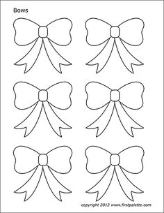 Add a dose of cuteness to your gifts and décor with paper bow decorations. You can use these pretty little bows in gift boxes, party decorations, decorating rooms or… Fun Christmas Activities, Free Christmas Printables, Christmas Templates, Free Stencils, Stencil Templates, Templates Printable Free, Christmas Stocking Pattern, Christmas Bows, Christmas Crafts